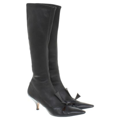 Yves Saint Laurent Stiefel in Schwarz