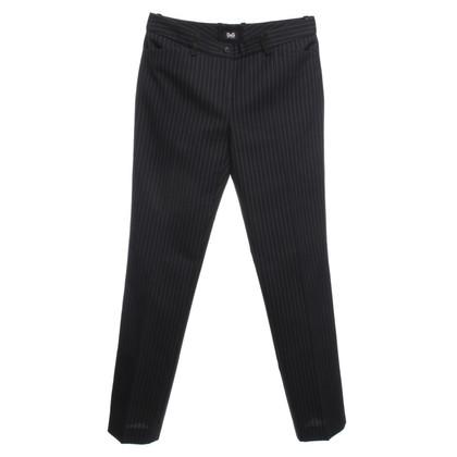 D&G Pinstripe trousers in dark blue