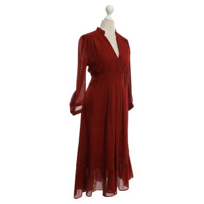 Comptoir des Cotonniers Seidenkleid in Rot