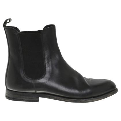 Jil Sander Chelsea boots in nero