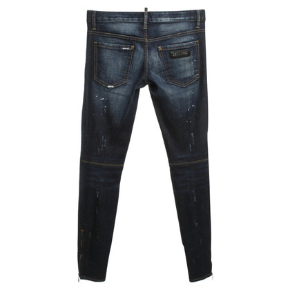 Dsquared2 Skinny jeans in used look