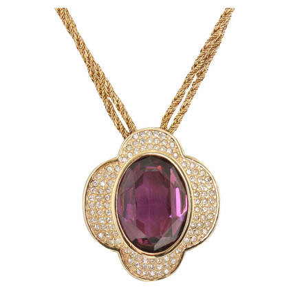 Christian Dior Necklace with pendant & Gemstone