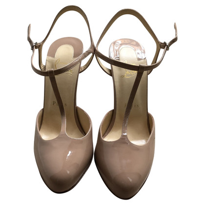 Christian Louboutin Laksleren sandalen