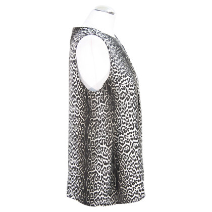 Reiss Silk top with animal print