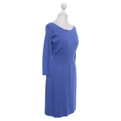 Versace vestito lavorato a maglia in blu