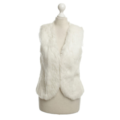 Closed Fur vest in White
