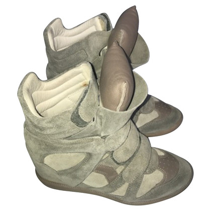Isabel Marant Etoile Becket Sneakerwedges in Taupe