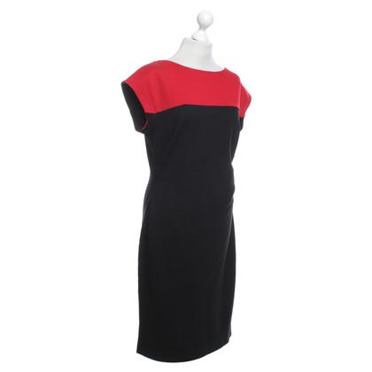 Escada Kleid in Schwarz/Rot