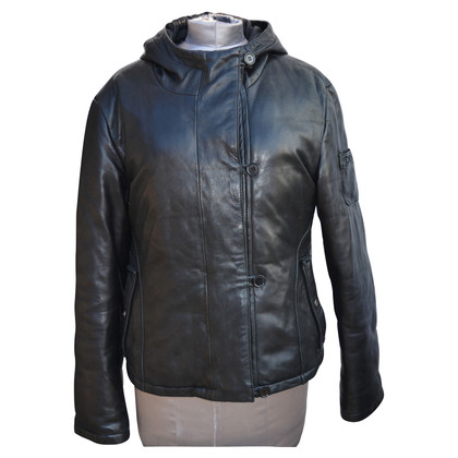 DKNY Nappa leather jacket with hood