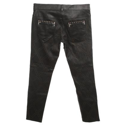 Isabel Marant Pantaloni in pelle con rivetti