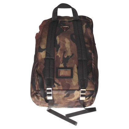 Prada Backpack camouflage look