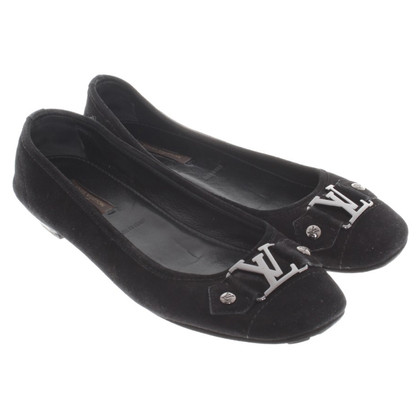 Louis Vuitton Schwarze Ballerinas aus Wildleder