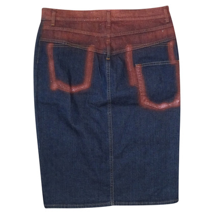 Just Cavalli worn-look jeans skirt