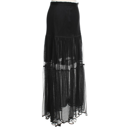 Chanel Tule rok in zwart