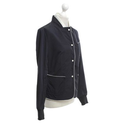 Moncler Jacket in Dark Blue / White