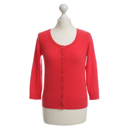 Joe Taft Red Cardigan in cashmere