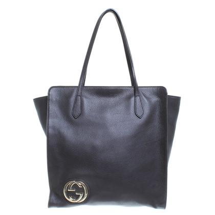 Gucci Shopper 'oscillazione' in marrone scuro