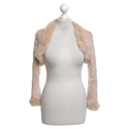 La Perla veste boléro de fourrure de lapin