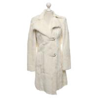 marc cain blanc manteau en peau de ch vre acheter marc cain blanc manteau en peau de ch vre. Black Bedroom Furniture Sets. Home Design Ideas