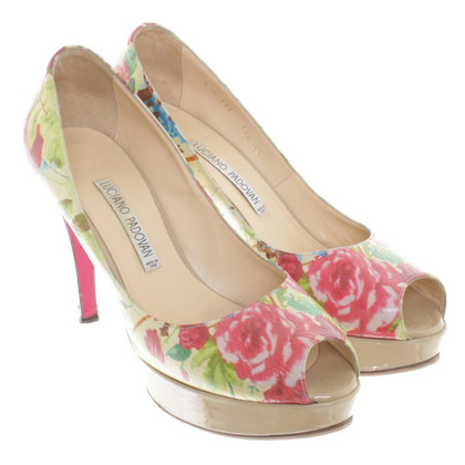 Luciano Padovan Peep-toes with floral motif