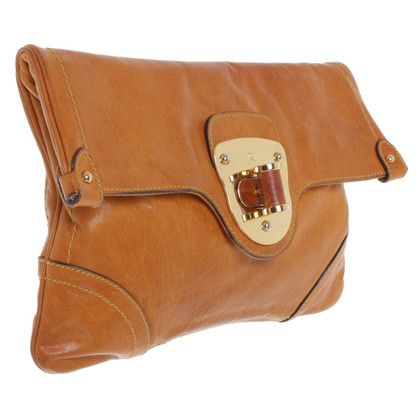Alexander McQueen Cognac-colored clutch