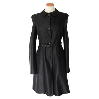 Just Cavalli Black coat with belt
