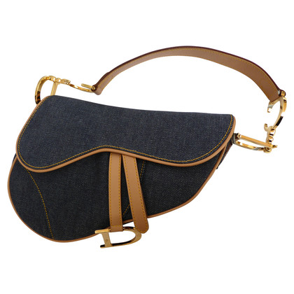 Christian Dior Borsa da sella in jeans