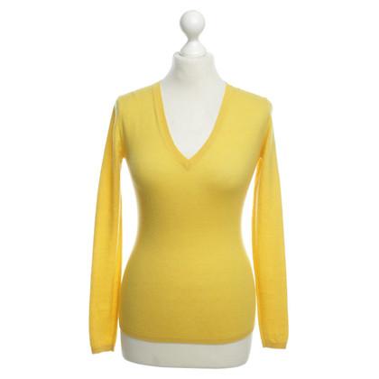 Strenesse Gele gebreide pullover
