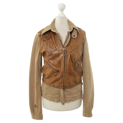 Belstaff Cotton jacket with leather vest