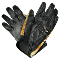 Chanel Python leather gloves