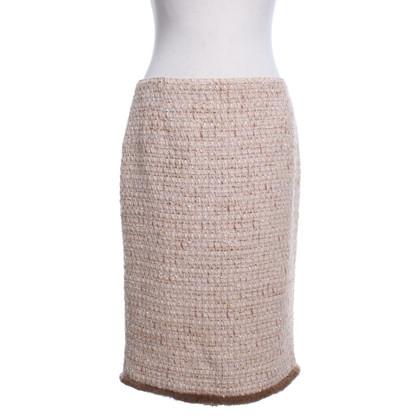 Blumarine Bouclé-skirt in beige