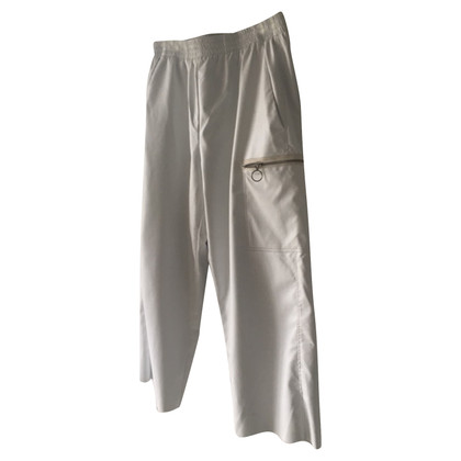 MM6 by Maison Margiela Imitatie lederen broek in wit