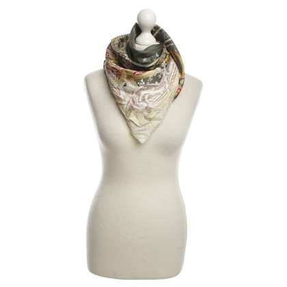 Ferre Zijden sjaal in Olive