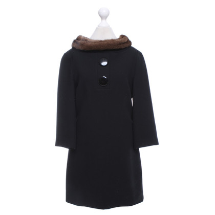 Michael Kors Dress with fur trim in mini-length