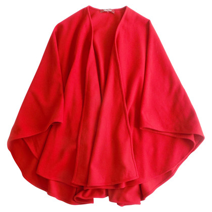 Max Mara Wollen cape in rood