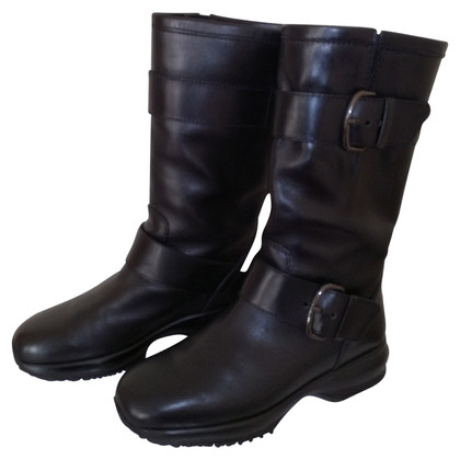 Hogan Boots in black leather