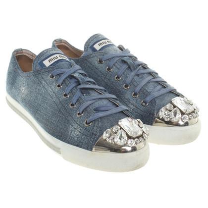 Miu Miu chaussures de sport Destroyed