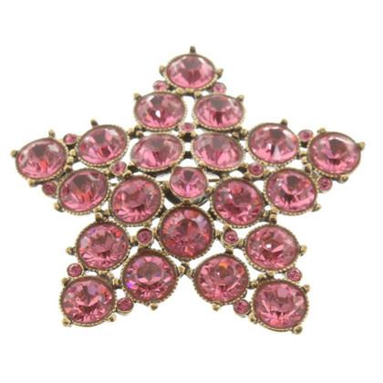 Sonia Rykiel Star brooch with gemstones