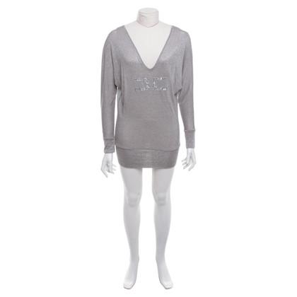 Elisabetta Franchi Silver-colored top