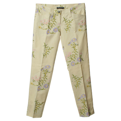 Dolce & Gabbana 7/8 trousers with floral print