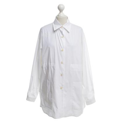 René Lezard Shirt blouse in white
