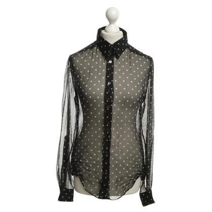 Dolce & Gabbana Transparante zijden blouse