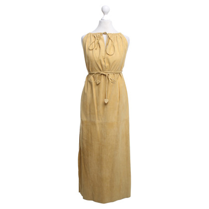 Gucci Wild leather dress in mustard yellow