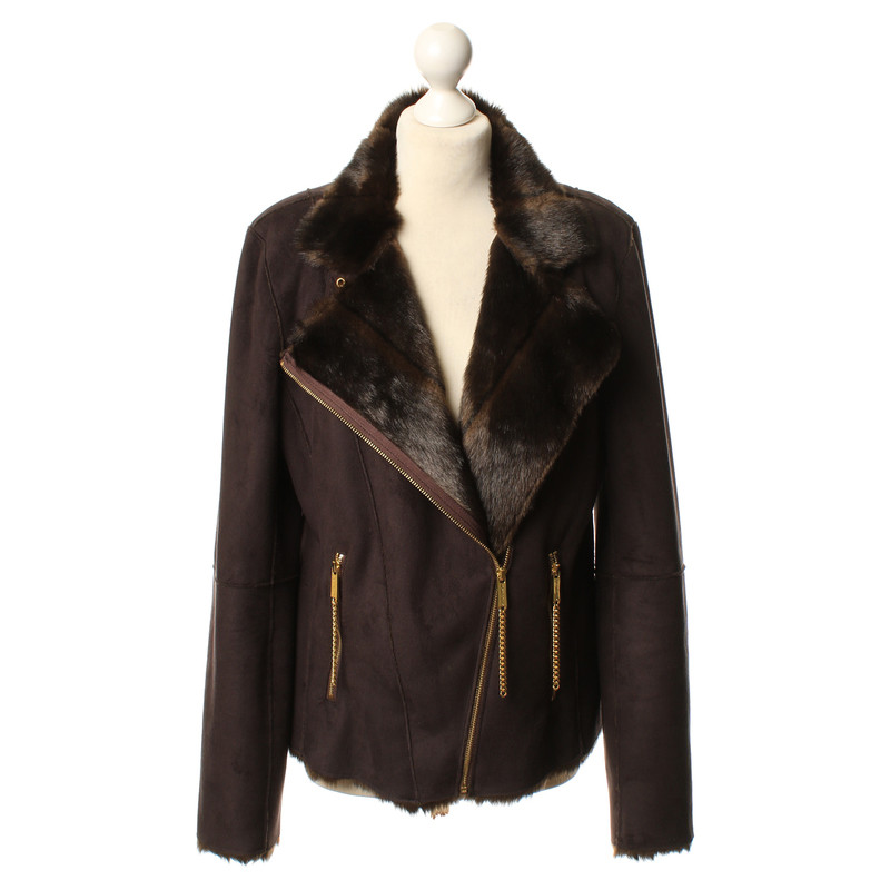 michael kors jacke in wildleder optik second hand michael kors jacke in wildleder optik. Black Bedroom Furniture Sets. Home Design Ideas