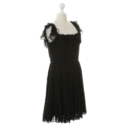 Marchesa Lace dress in black