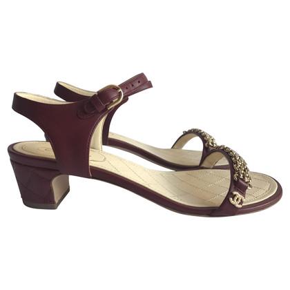 Chanel Bordeaux hiel sandalen