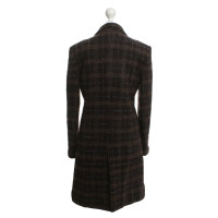 Dolce & Gabbana Coat with plaid tweed