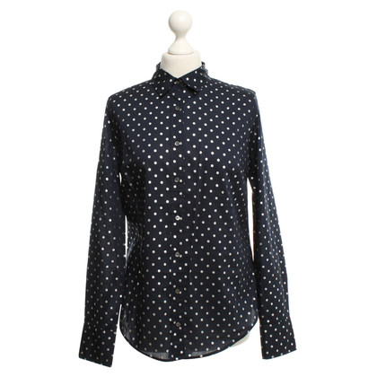 J. Crew Blouse with silver colored dots