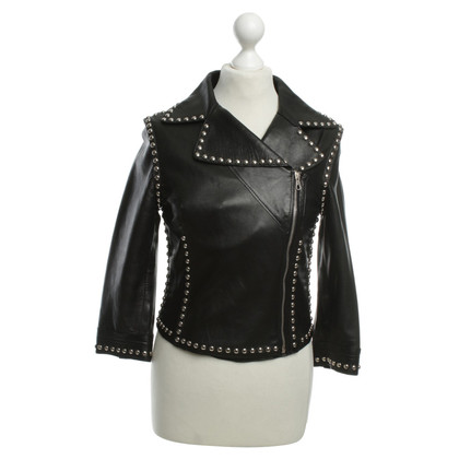Dolce & Gabbana Leather jacket with studs