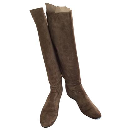 Lanvin Suede boots in beige